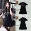 ชุดเดรสเกาหลีพร้อมส่ง Dress แขนสั้นคอปกสีดำ thumbnail 4