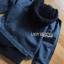 เสื้อผ้าเกาหลีพร้อมส่ง เซ็ตเสื้อแจ็กเก็ตเดนิมทับเสื้อโค้ทตกแต่งฮู้ดขนแกะสีน้ำเงินเข้ม thumbnail 11