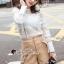 เสื้อผ้าเกาหลีพร้อมส่ง T-Shirt Lace Sweater Circle Pant Set thumbnail 5