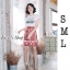 เสื้อผ้าเกาหลีพร้อมส่ง เอาใจสาวๆซุดแซ่ป ด้วยชุดเซ็ทเสื้อยืดสีขาวพื้นพิมพ์ลายD&G thumbnail 6
