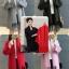 เสื้อผ้าแฟชั่นเกาหลีพร้อมส่ง เสื้อคลุมไหมพรมKorea thumbnail 1