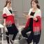 เสื้อผ้าเกาหลีพร้อมส่ง เสื้อคลุมตัวยาวงานไหมพรม cardigan ทอไล่สีขาว แดง ดำ thumbnail 3