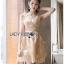 เสื้อผ้าเกาหลีพร้อมส่ง ค็อกเทลเดรสผ้าออร์แกนซ่าปักลายดอกไม้แบบ3D thumbnail 3