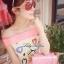 ( พร้อมส่ง) มินิเดรสเปิดไหล่ พิมพ์ลายหัวใจสีสดใส เก๋ๆด้วยดีเทลเปิดไหล่ทรงโบว์ ลุคคุณหนู หวานสดใสแบบสาวเกาหลี น่ารักมากค่ะ thumbnail 2