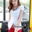 เสื้อผ้าเกาหลี พร้อมส่งCrimson red pants set thumbnail 2