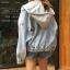 เสื้อผ้าเกาหลีพร้อมส่ง JACKET YEAN v HOODIE thumbnail 5