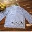เสื้อผ้าเกาหลีพร้อมส่ง เสื้อลูกไม้คอกลมตั้งสูงสไตล์วินเทจ thumbnail 14