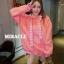 เสื้อผ้าเกาหลีพร้อมส่ง เสื้อกันหนาว oversize มีฮู้ดสีน่าร้าก thumbnail 4