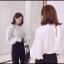 เสื้อผ้าเกาหลีพร้อมส่ง เสื้อคอปีนกระดุมหลังคอ thumbnail 4
