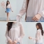 เสื้อผ้าเกาหลีพร้อมส่ง เสื้อผ้ามุ้งลายจุดเล็กๆ มาพร้อมซับใน thumbnail 15