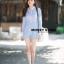 เสื้อผ้าเกาหลีพร้อมส่ง จั๊มสูทจาสั้นิแขนยาง thumbnail 2