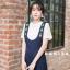 เสื้อผ้าเกาหลีพร้อมส่ง เซทเอี้ยมเนื้อผ้าดีเว่อร์ ไม่ยับมาเป็นเอี้ยมทรงสวย thumbnail 3
