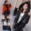 เสื้อผ้าเกาหลีพร้อมส่ง แจ็คเก็ตแต่งฮู้ตคลุม ตัวนี้ผ้าดีมาก thumbnail 7