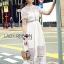 ชุดเดรสเกาหลีพร้อมส่ง เดรสผ้าลูกไม้สีขาวสไตล์แบรนด์ Self-Portrait thumbnail 8