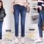 เสื้อผ้าเกาหลีพร้อมส่ง กางเกงยีนส์ทรงกระบอกเล็กผ้ายีนส์ฮ่องกง thumbnail 3