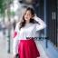 เสื้อผ้าเกาหลีพร้อมส่ง ขาวแดงงานดีก็มาคร้าาาาาา เหมือนเด็กญี่ปุ่นจริงงๆ thumbnail 7