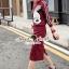 เสื้อผ้าเกาหลีพร้อมส่ง We Love Mickey Chic Jackskirt Set thumbnail 4