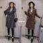 เสื้อผ้าแฟชั่นเกาหลีพร้อมส่ง เสื้อโค้ชตัวยาวผ้าถักหนาวานมีซับในทั้งตัวคะ thumbnail 2