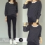 เสื้อผ้าแฟชั่นเกาหลีพร้อมส่ง Set 2 ชิ้น เสื้อ+กางเกง thumbnail 2