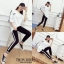 เสื้อผ้าเกาหลีพร้อมส่ง งานเซทมาคะ เซทเสื้อ+กางเกง thumbnail 4