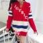 เสื้อผ้าเกาหลีพร้อมส่ง มินิเดรสไหมพรม Knitting good quality thumbnail 6
