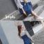 เสื้อผ้าแฟชั่นเกาหลีพร้อมส่งเอี้ยมกระโปรง มีเชือกผูกเอว thumbnail 8