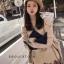 เสื้อผ้าเกาหลีพร้อมส่ง เสื้อไหมพรมแขนยาวคอกลม thumbnail 2