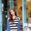 ชุดเดรสเกาหลี พร้อมส่ง Cute Mickey strip attractive Denim Dress thumbnail 3