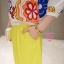 เสื้อผ้าเกาหลี พร้อมส่งเซตเสื้อดอกไม้ + กางเกง เหลือง thumbnail 2