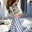 เสื้อผ้าเกาหลี พร้อมส่งเซ็ทเสื้อ+กระโปรง เสื้อผ้า silk satin thumbnail 4