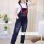 เสื้อผ้าเกาหลีพร้อมส่ง เอี๊ยมยีนส์ขายาว งานแต่งสายเกร๋ๆ thumbnail 2