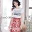 เสื้อผ้าเกาหลีพร้อมส่ง เอาใจสาวๆซุดแซ่ป ด้วยชุดเซ็ทเสื้อยืดสีขาวพื้นพิมพ์ลายD&G thumbnail 4