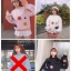 เสื้อผ้าเกาหลีพร้อมส่ง เสื้อผ้านุ่มติดดอกไม้ 3D thumbnail 7