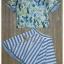 เสื้อผ้าเกาหลี พร้อมส่งเซ็ทเสื้อ+กระโปรง เสื้อผ้า silk satin thumbnail 7