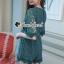 เสื้อผ้าเกาหลีพร้อมส่ง Whiffle Rim Lace Murky Color Playsuit thumbnail 5