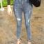กางเกงยีนส์เอวสูง ขาดถากๆสวยมาก thumbnail 1