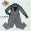 เสื้อผ้าเกาหลีพร้อมส่ง Set 3ชิ้น เอี้ยม+เสื้อซีฟอง+สายเดี่ยวซับใน thumbnail 2