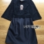 ชุดเดรสเกาหลีพร้อมส่ง เดรสผ้าลูกไม้และผ้าไหมผสมสีดำสไตล์เฟมินีน thumbnail 8