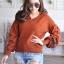 เสื้อผ้าเกาหลีพร้อมส่ง เสื้อไหมพรม Korea Design งานผ้าไหมพรมอย่างดี thumbnail 3