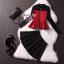 เสื้อผ้าเกาหลี พร้อมส่ง เซ็ตเสื้อ Swaeter มาพร้อมกระโปรงกางเกงสีดำ thumbnail 6