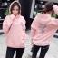 เสื้อผ้าเกาหลีพร้อมส่ง เสื้อกันหนาวแบบมีฮู้ด thumbnail 3