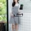 เสื้อผ้าเกาหลีพร้อมส่ง ชุดเซทเสื้อแขนยาว+เดรสลายตาราง thumbnail 2