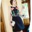 ชุดเดรสเกาหลีพร้อมส่ง เดรสผ้าเครปสีดำปักลายดอกกุหลาบ thumbnail 6