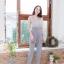 จั๊มสูทผ้าพื้นทรงสวยยยมากกก ขาเดฟนิดๆ thumbnail 6