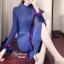 เสื้อผ้าเกาหลีพร้อมส่ง Setเสื้อsweater + กระโปรง thumbnail 3