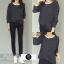 เสื้อผ้าแฟชั่นเกาหลีพร้อมส่ง Set 2 ชิ้น เสื้อ+กางเกง thumbnail 3