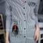 เสื้อผ้าเกาหลีพร้อมส่ง เดรสเชิ้ตแขนยาว กระดุมเรียงสกรีนลาย thumbnail 5