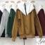 เสื้อผ้าเกาหลีพร้อมส่ง เสื้อแขนยาว คอตั้งซิปหน้า ผ้าสวยมากเนื้อผ้าอย่างดี thumbnail 2