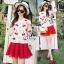 Blossom Cherry Strips Knit Cardigan thumbnail 2