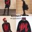 เสื้อผ้าเกาหลีพร้อมส่ง เสื้อไหมพรมเกาหลี MAMC พื้นดำทอลายตัดแดง thumbnail 4